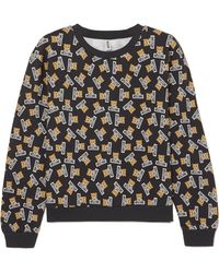 Moschino - Printed Cotton-jersey Sweatshirt - Lyst