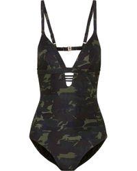 Melissa Odabash   Amazon Camouflage-print Swimsuit   Lyst