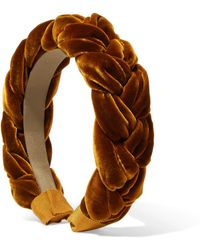 Jennifer Behr - Braided Velvet Headband - Lyst