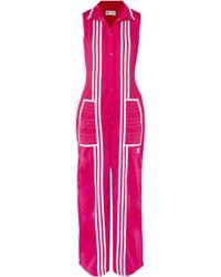 0f8e98c2bfa3 adidas Originals - + Ji Won Choi Striped Satin-jersey Jumpsuit - Lyst