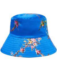 Preen By Thornton Bregazzi - Holly Printed Satin Bucket Hat - Lyst