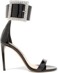 Alexandre Vauthier - Yasmin Swarovski Crystal-embellished Patent-leather Sandals - Lyst