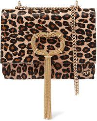 Roger Vivier - Embellished Leopard-print Pony Hair Shoulder Bag - Lyst