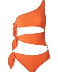 Lisa Marie Fernandez - Bianca One-shoulder Cutout Stretch-crepe Swimsuit - Lyst