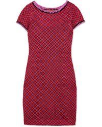 Missoni - Metallic Crochet-knit Mini Dress - Lyst