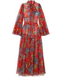 Dolce & Gabbana - Combi-pantalon En Mousseline De Soie Imprimée - Lyst