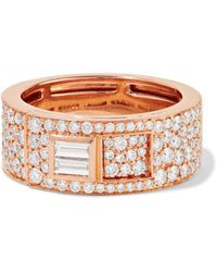 Jemma Wynne - 18-karat Rose Gold Diamond Ring - Lyst