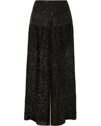 Anna Sui - Pantalon Large En Mousseline Dévorée - Lyst
