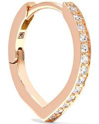 Repossi - Antifer 18-karat Rose Gold Diamond Earring - Lyst