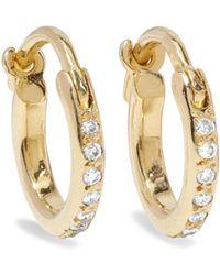 Ileana Makri - 18-karat Gold Diamond Hoop Earrings - Lyst