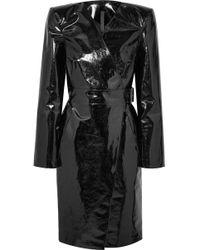 Gareth Pugh - Belted Pvc Wrap Dress - Lyst