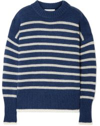 La Ligne - Marin Striped Cashmere And Wool-blend Jumper - Lyst