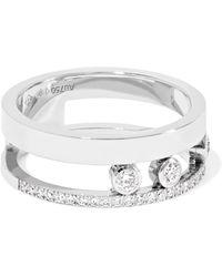 Messika - Move Romane 18-karat White Gold Diamond Ring - Lyst