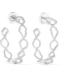Kimberly Mcdonald - 18-karat White Gold Diamond Hoop Earrings - Lyst