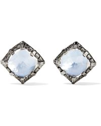 Larkspur & Hawk - Bella Rhodium-dipped Quartz Earrings - Lyst