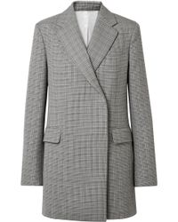 CALVIN KLEIN 205W39NYC - Oversized Glen Plaid Wool Mini Dress - Lyst