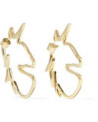 Jennifer Fisher - Unicorn Gold-plated Earrings - Lyst
