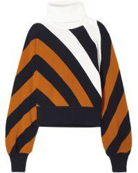 Monse - Striped Wool Turtleneck Jumper - Lyst