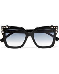 Fendi - Studded Square-frame Acetate Sunglasses - Lyst
