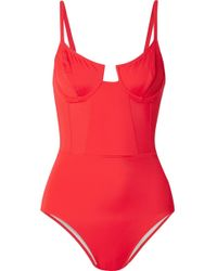 Solid & Striped - Re/done The Hollywood Underwired Swimsuit - Lyst
