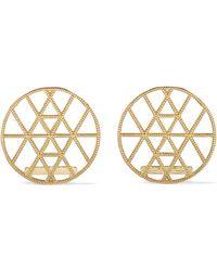 Grace Lee - Geo Disc Gold Earrings - Lyst