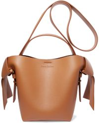 Acne Studios - Musubi Mini Knotted Leather Shoulder Bag - Lyst