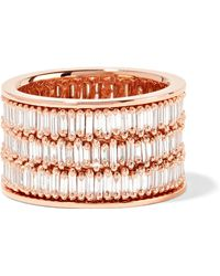 Suzanne Kalan - 18-karat Rose Gold Diamond Ring - Lyst