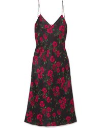 Cami NYC - The Raven Floral-print Silk-charmeuse Dress - Lyst