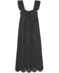 ALEXACHUNG - Fifi Polka-dot Jacquard Midi Dress - Lyst