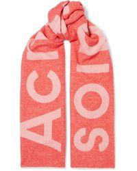 Acne Studios - Toronty Intarsia Wool-blend Scarf - Lyst