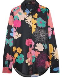 Stine Goya - Maxwell Floral-print Silk-blend Satin Shirt - Lyst