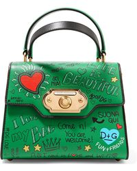 Dolce & Gabbana | Welcome Small Printed Leather Tote | Lyst
