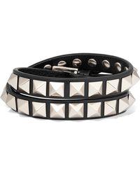 Valentino - Garavani The Rockstud Leather Bracelet - Lyst