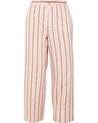 FRAME - Striped Jacquard Wide-leg Pants - Lyst