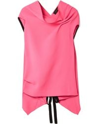 Roland Mouret - Eugene Open-back Draped Wool-crepe Top - Lyst