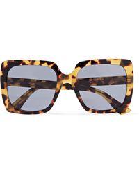 ef28d3efdb81 Gucci - Oversized Crystal-embellished Square-frame Tortoiseshell Acetate  Sunglasses - Lyst