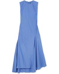 Ellery - Nightwood Striped Cotton Midi Dress - Lyst