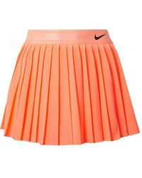 Nike - Court Victory Pleated Neon Dri-fit Stretch Skirt - Lyst