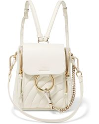Chloé - Faye Mini Quilted Leather Backpack - Lyst