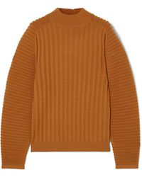 Victoria, Victoria Beckham | Ribbed Wool Sweater | Lyst