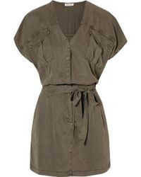 Splendid | Cargo Twill Mini Dress | Lyst