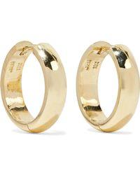 Jennifer Meyer - Wide Huggies 18-karat Gold Earrings - Lyst