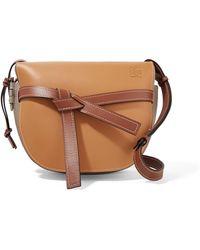 Loewe - Gate Color-block Leather Shoulder Bag - Lyst