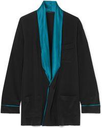 Haider Ackermann - Draped Two-tone Silk Shirt - Lyst