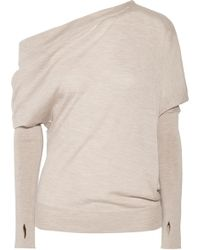 Tom Ford - One-shoulder Cashmere And Silk-blend Sweater - Lyst