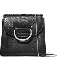 Little Liffner - Tiny Box D Python Shoulder Bag - Lyst
