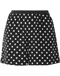 Marc Jacobs - Polka-dot Silk Crepe De Chine Shorts - Lyst