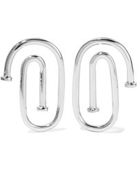Jennifer Fisher - Small Pipe Silver-plated Earrings - Lyst