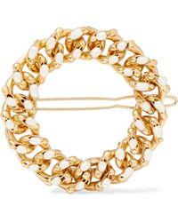 Rosantica - Ingranaggio Gold-tone Pearl Hairclip Gold One Size - Lyst