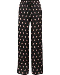 Markus Lupfer - Alexis Printed Silk-satin Track Pants - Lyst